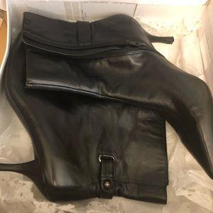Nine West Newarker Black Leather Ankle Boot 8.5 M